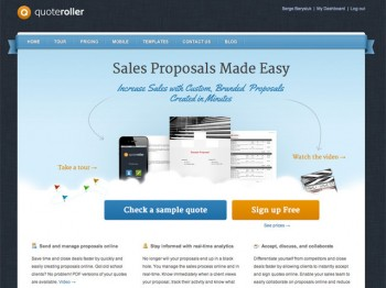 QuoteRoller: Create and Organize Elegant Business Proposals Online ...