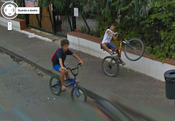 TechieApps-Google Earth and Google Street View pics-Popping Wheelies