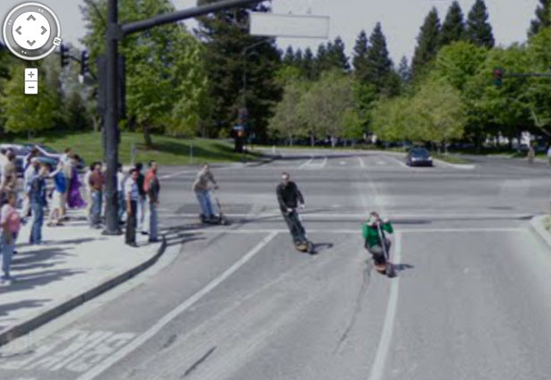TechieApps-Google Earth and Google Street View pics-Scooter Gang