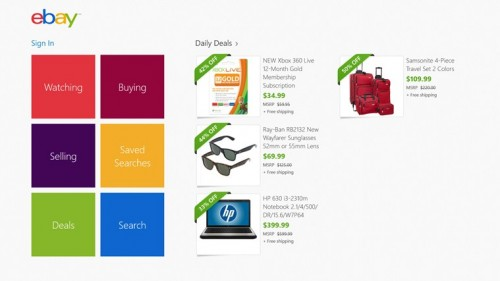 Techieapps-Windows8-App-design-eBay