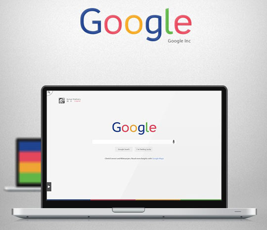 1. Google – Redesign Concept + Freebie