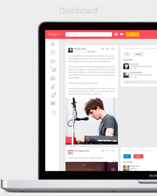 2 Google Plus Redesigned Concept