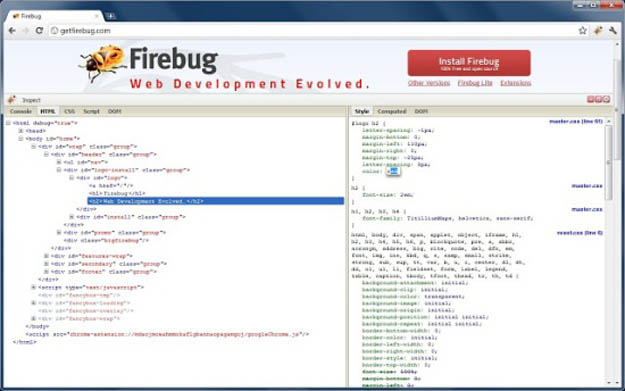 5. Firebug Lite