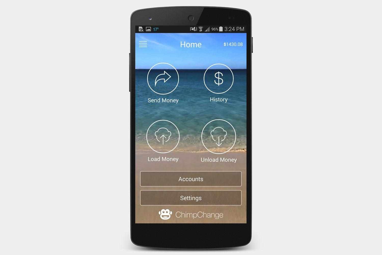 Chimpchange - money transfer app