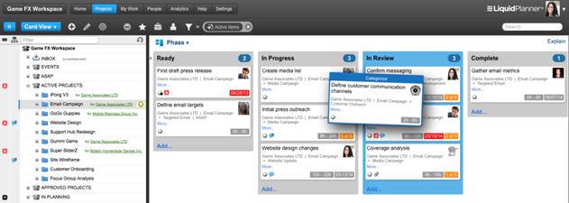 LiquidPlanner - Web-Based  Tasks Manager