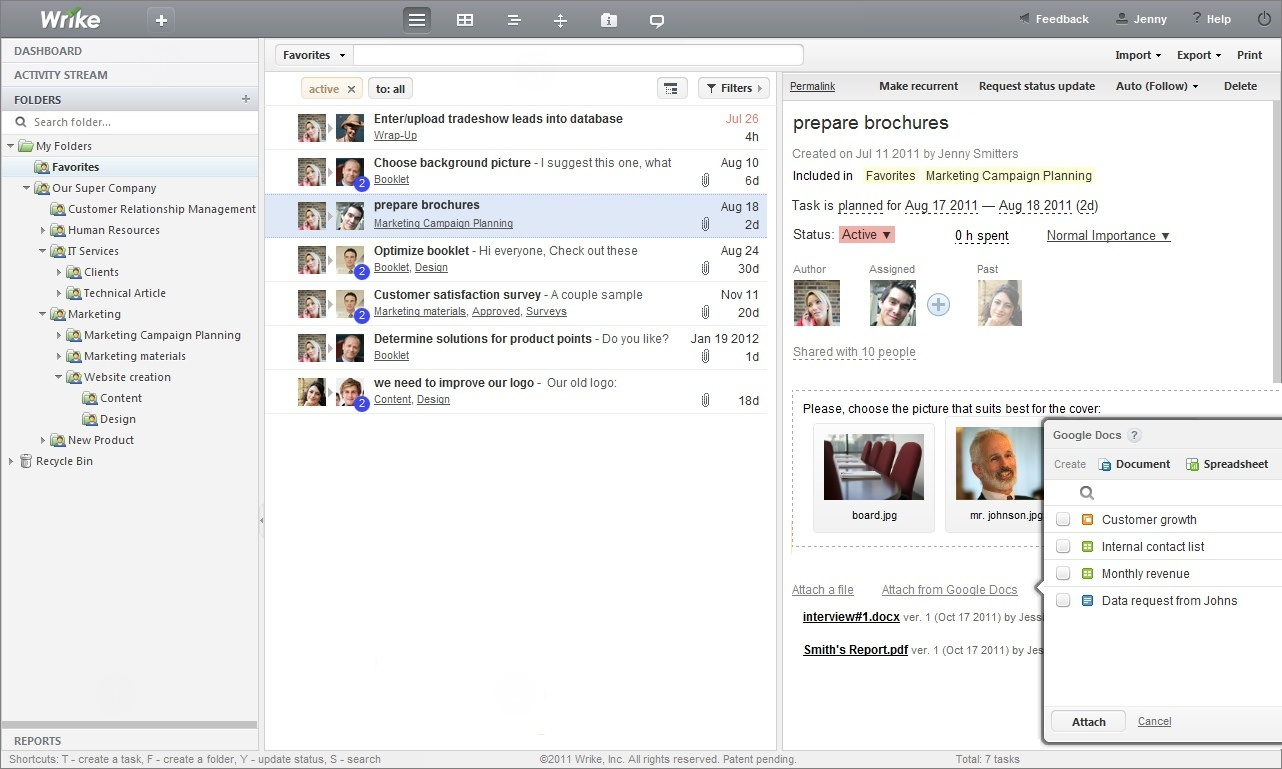 Wrike - Web-based Tasks Manager