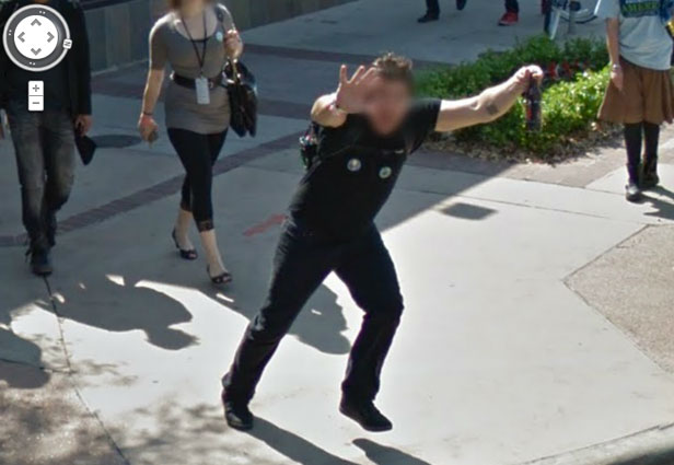 TechieApps-Google Earth and Google Street View pics-Hey, Google look at me!