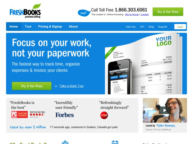 Freshbooks-Best Online Invoicing Applications