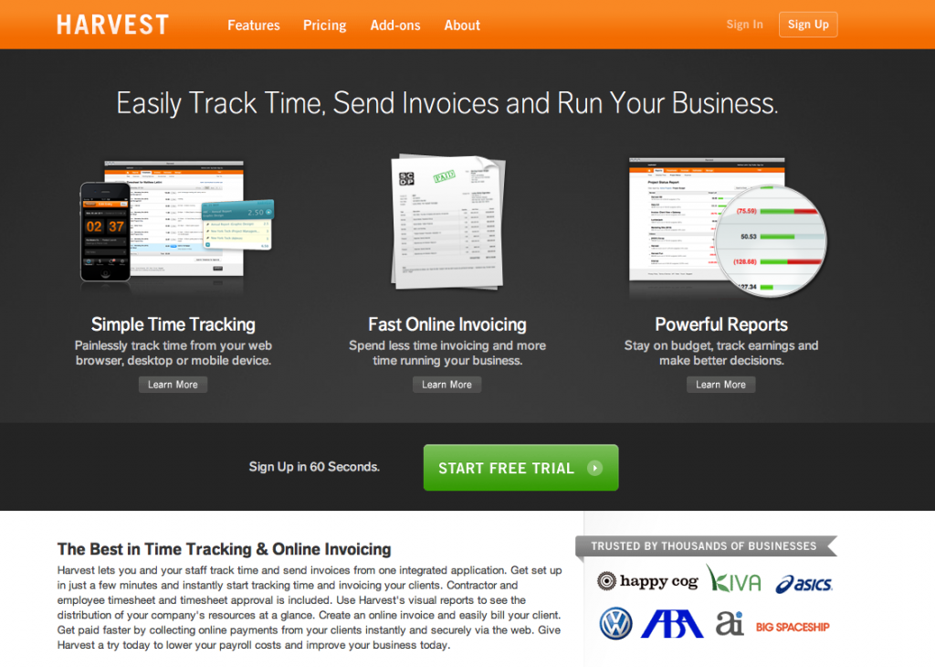 Getharvest-Best Online Invoicing Applications