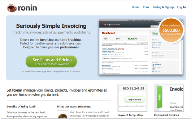 RoninApp-Best Online Invoicing Applications