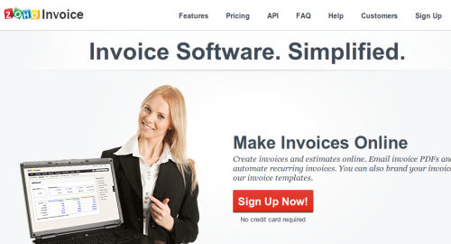 Zoho Invoice-Best Online Invoicing Applications