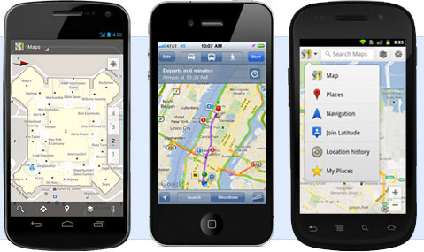 TechieApps-Google-Maps-Mobile