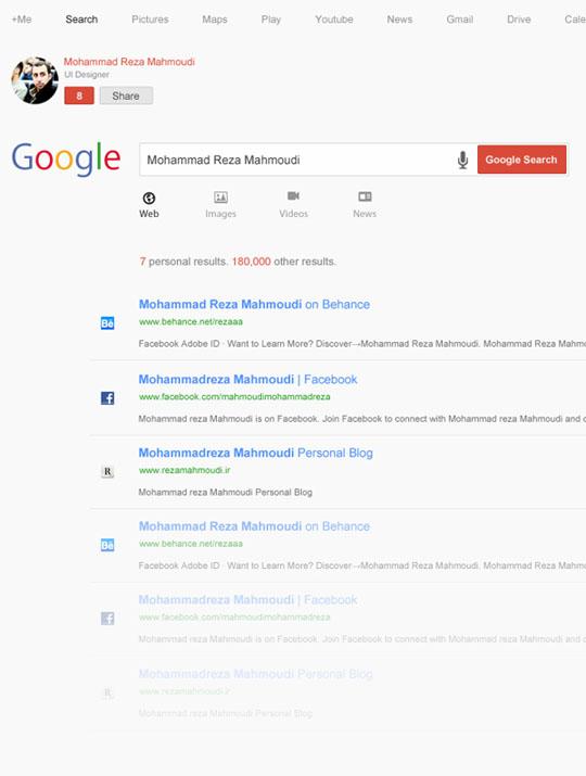 1. Google ReDesign + PSD