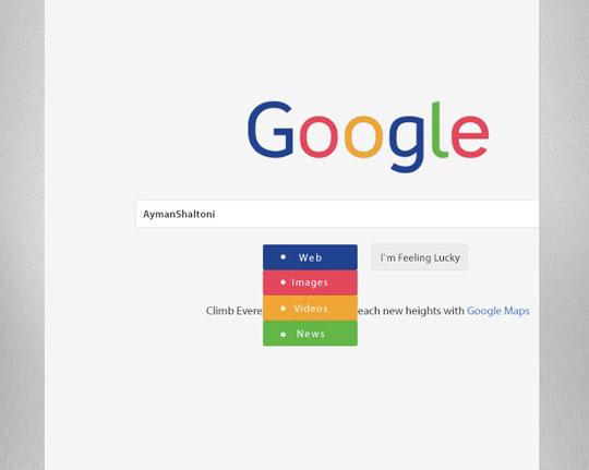 2. Google – Redesign Concept-Freebie