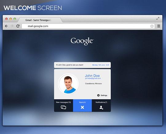 2. Google Mail-UI Design