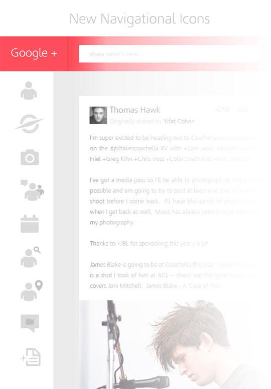 3. Google Plus Redesigned Concept