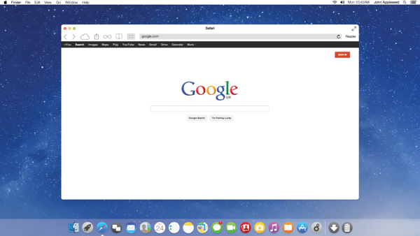 3. OS X 11–Inspired by iOS 7 Safari by Saif Aslam
