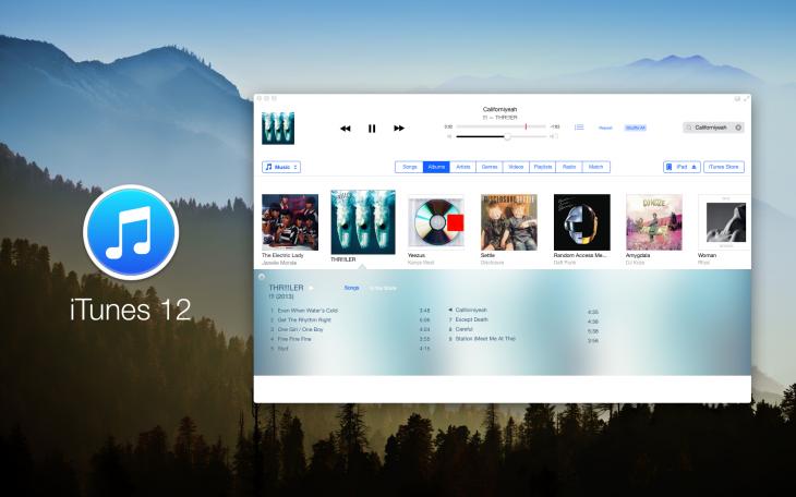 4. iTunes 12 concept by Anton Kovalev