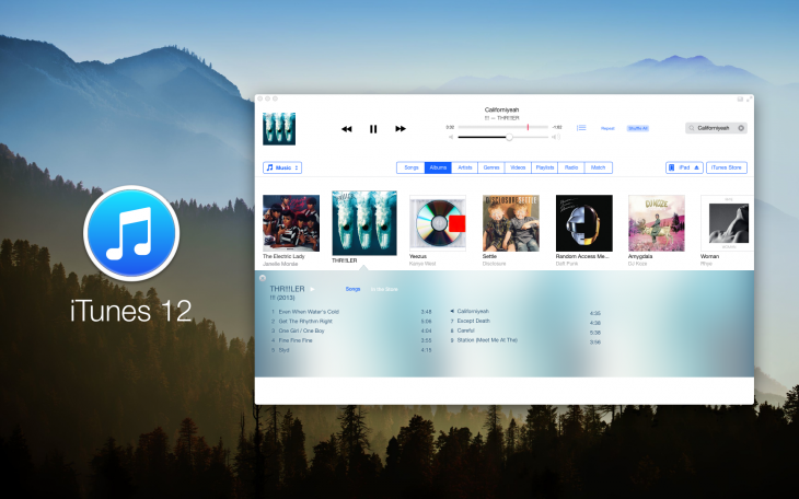 4. iTunes 12 concept by Anton Kovalev