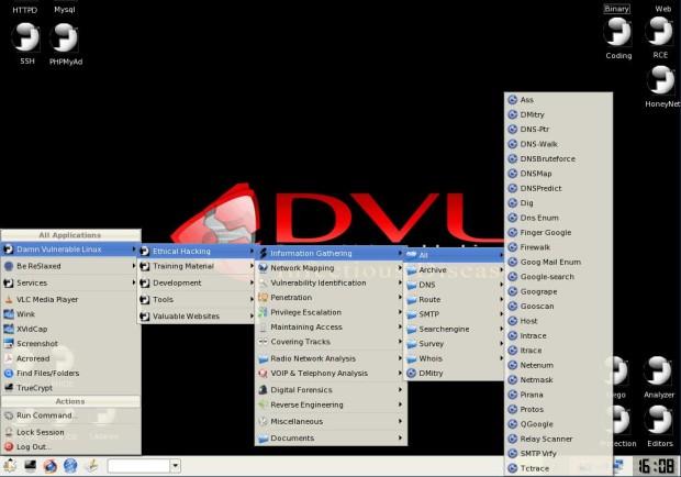 7. Damn Vulnerable Linux