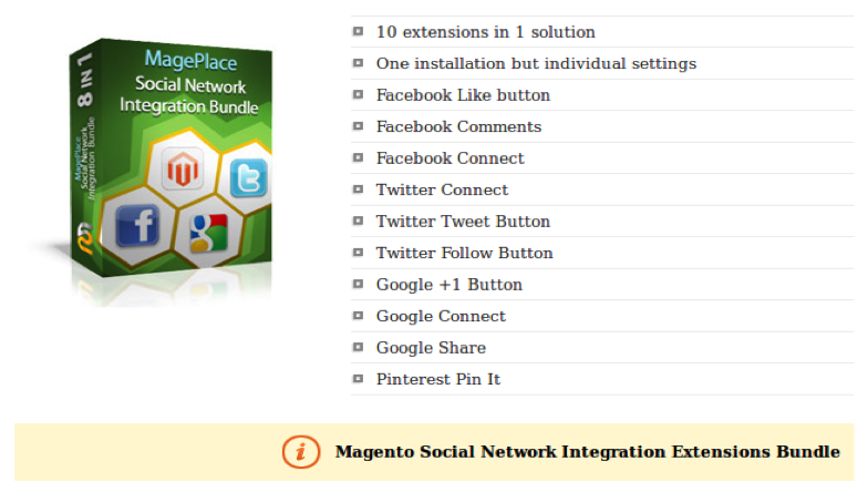 Techieapps - Top Magento Apps for Your Online Store - Magento Social Network Integration Bundle