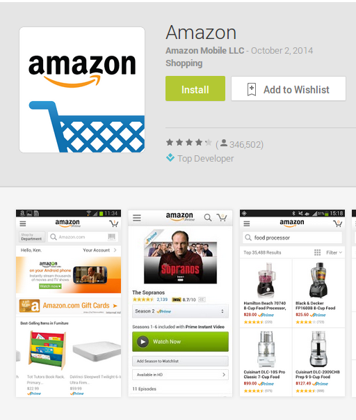 Amazon For Android