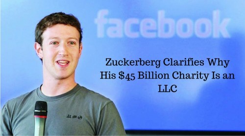zuckerberg billion charity LLC
