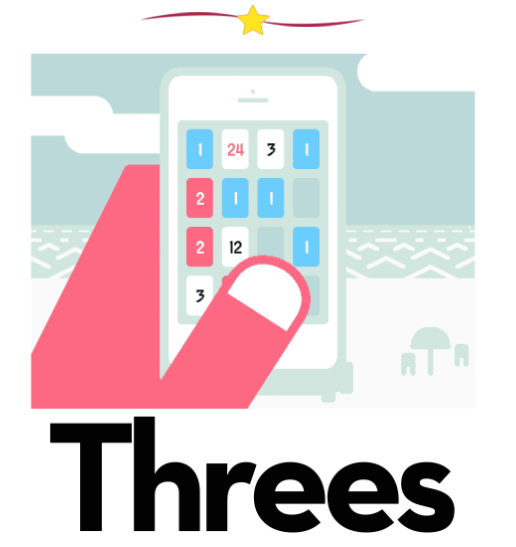 Threes iPhone gaming app