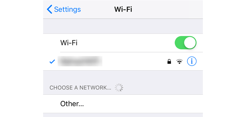 Disable WiFi on the iPhone