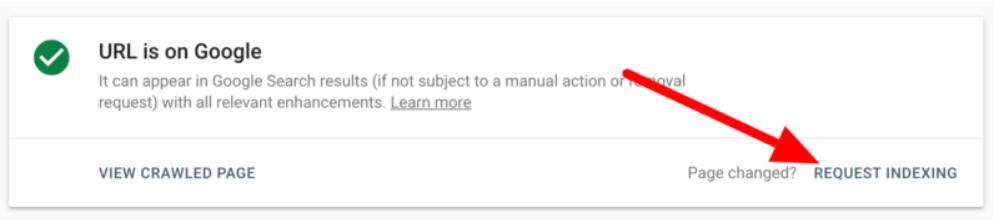 Google URL Inspection