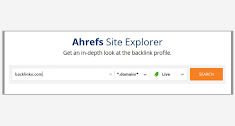 Then add that site to the Ahref site explorer.