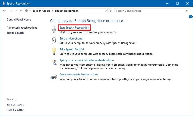 Windows 10 Speech Recognition
