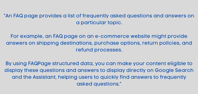 FAQs Benefits