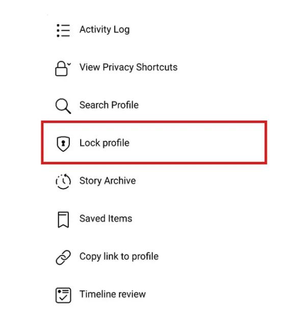 Lock Your Facebook Profile